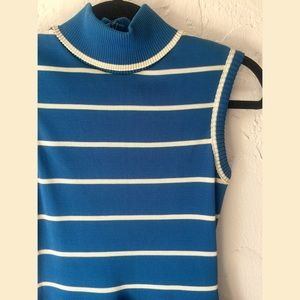Vintage Blue & White Striped Sailor Dress